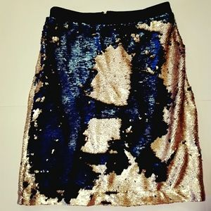 Sequins Gold and Blue skirt sz Xsmall. So fun!